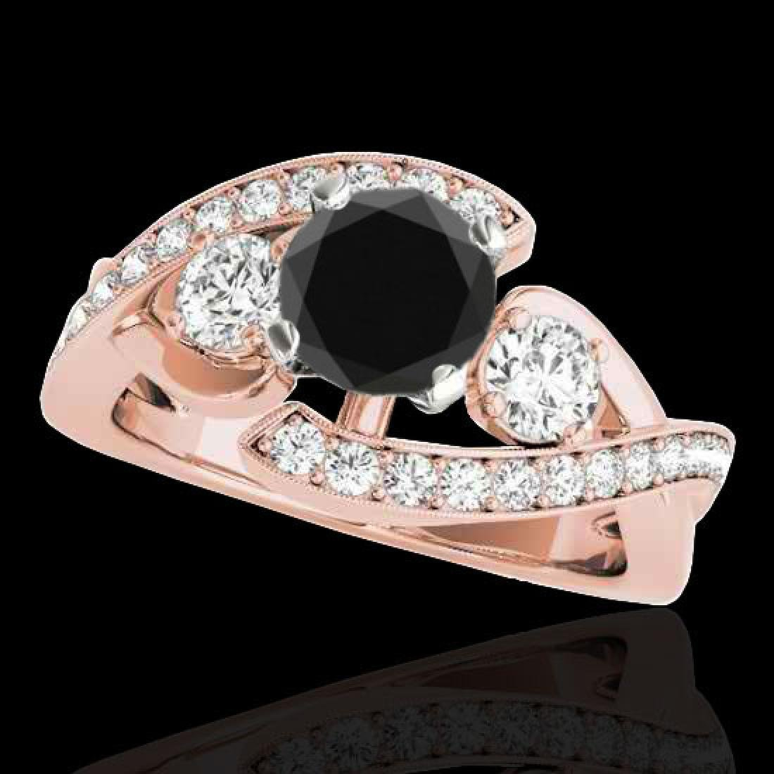 2.01 CTW Certified VS Black Diamond Bypass Solitaire