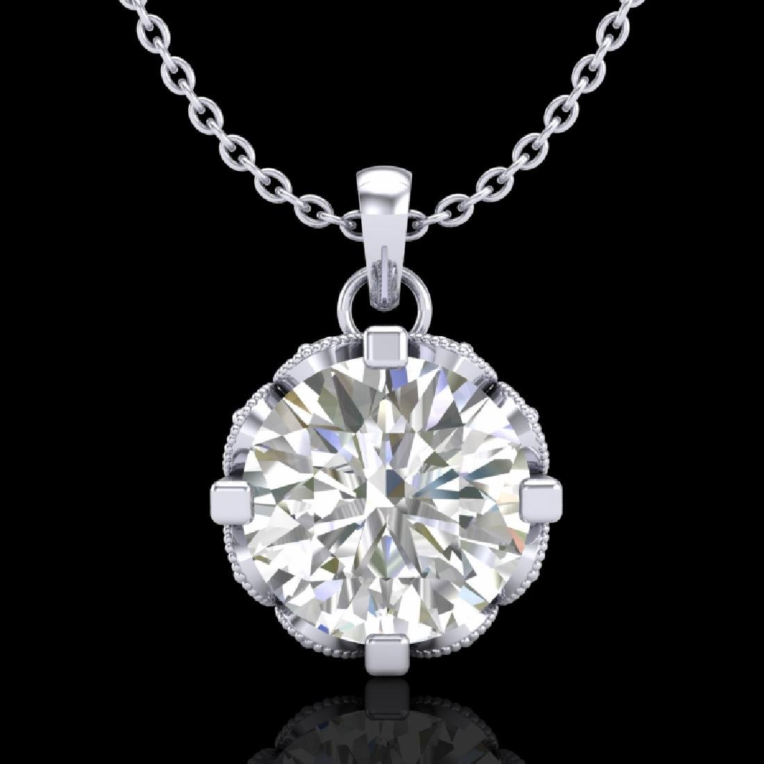 1.5 CTW VS/SI Diamond Solitaire Art Deco Stud Necklace