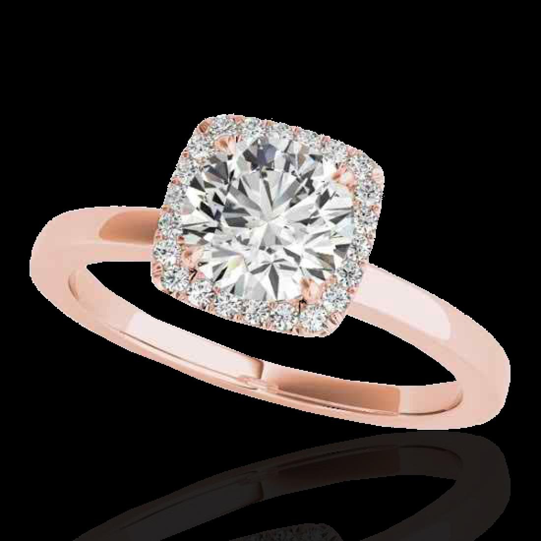 1.15 CTW H-SI/I Certified Diamond Solitaire Halo Ring