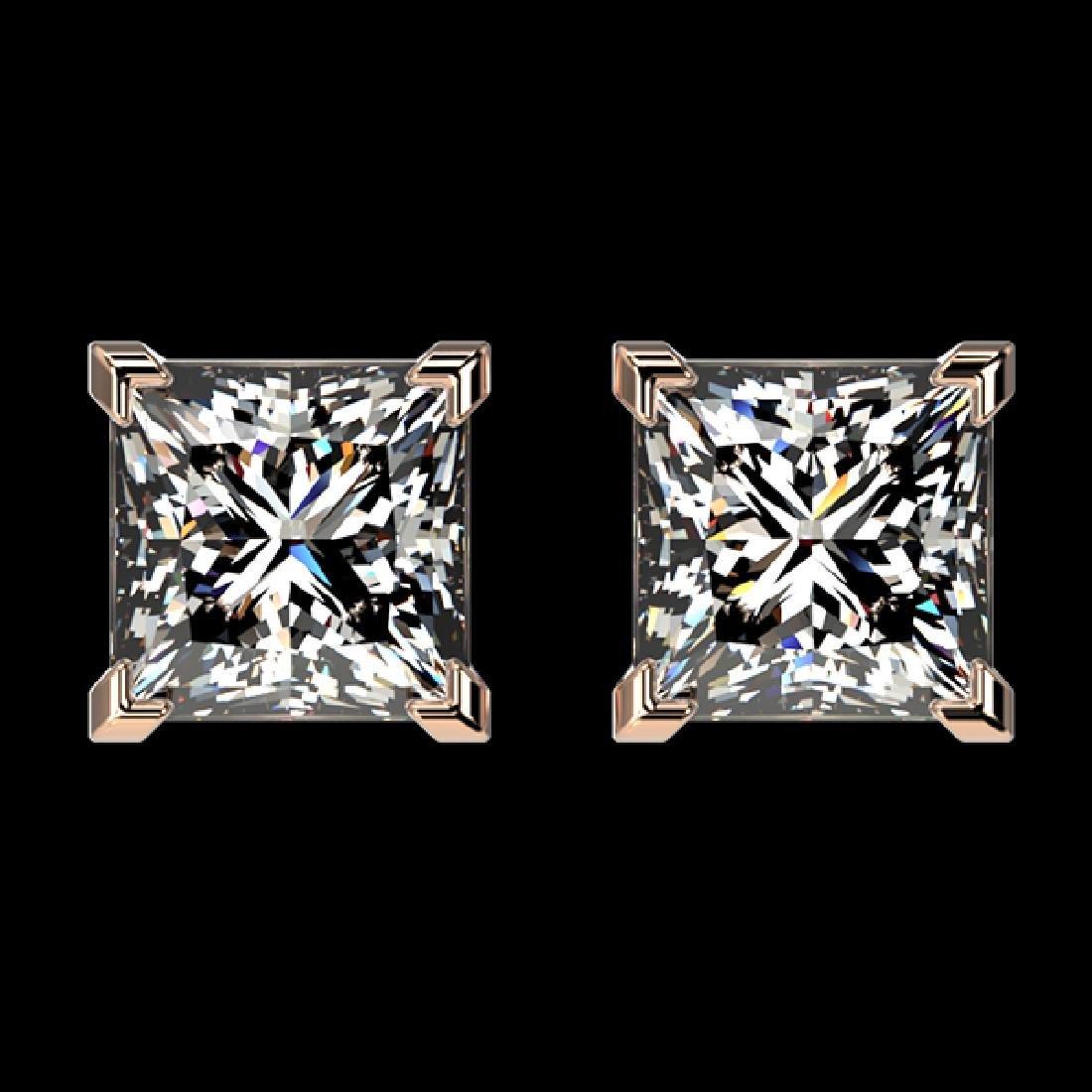 2 CTW Certified VS/SI Quality Princess Diamond Stud