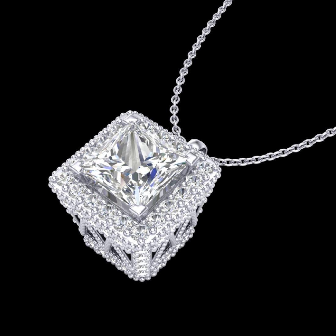 1.93 CTW Princess VS/SI Diamond Solitaire Micro Pave