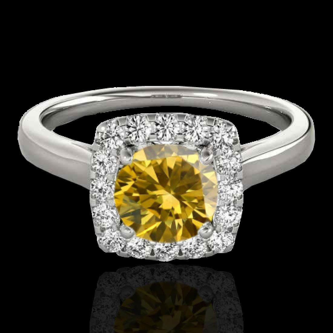 1.37 CTW Certified SI/I Fancy Intense Yellow Diamond