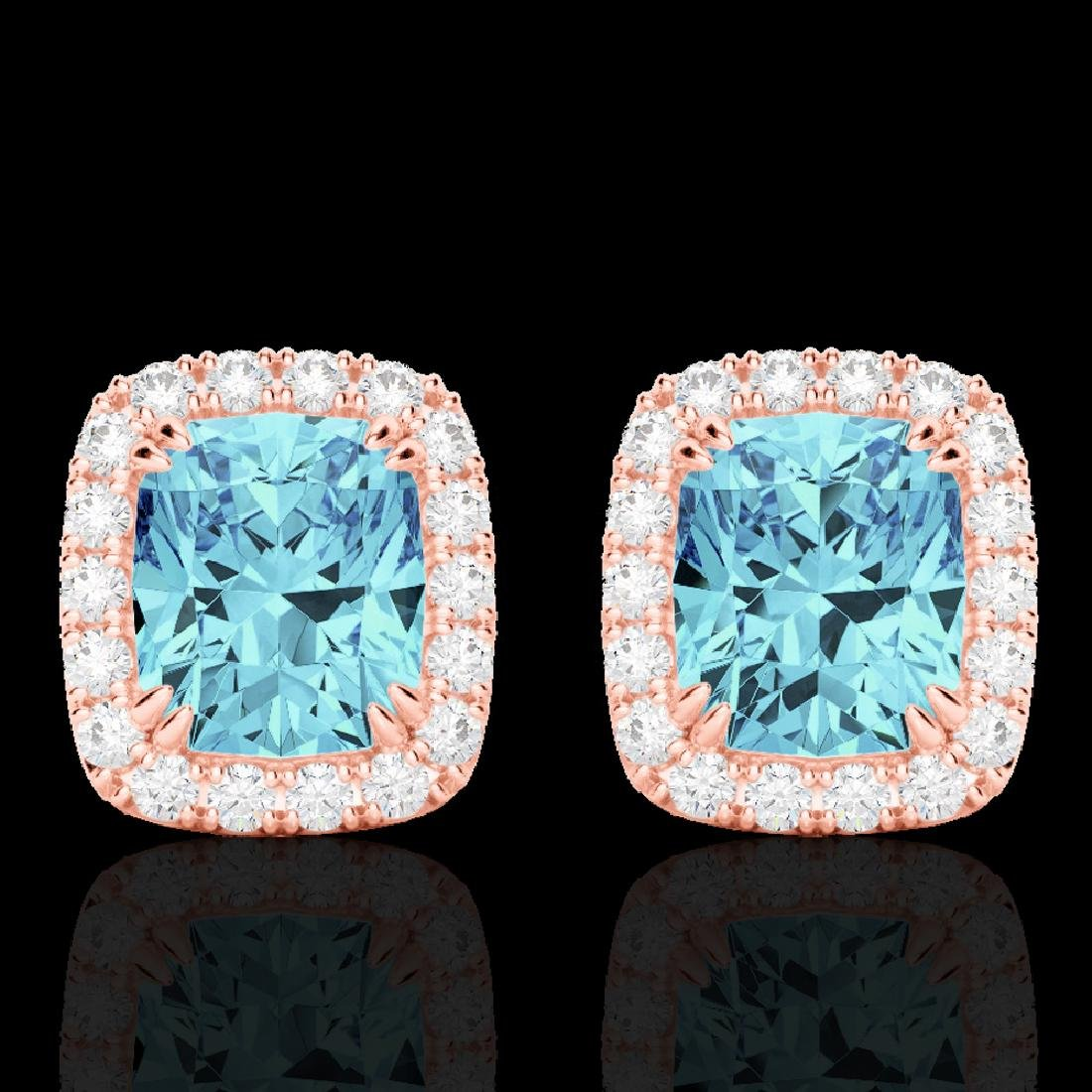 2.50 CTW Sky Blue Topaz & Micro VS/SI Diamond Halo