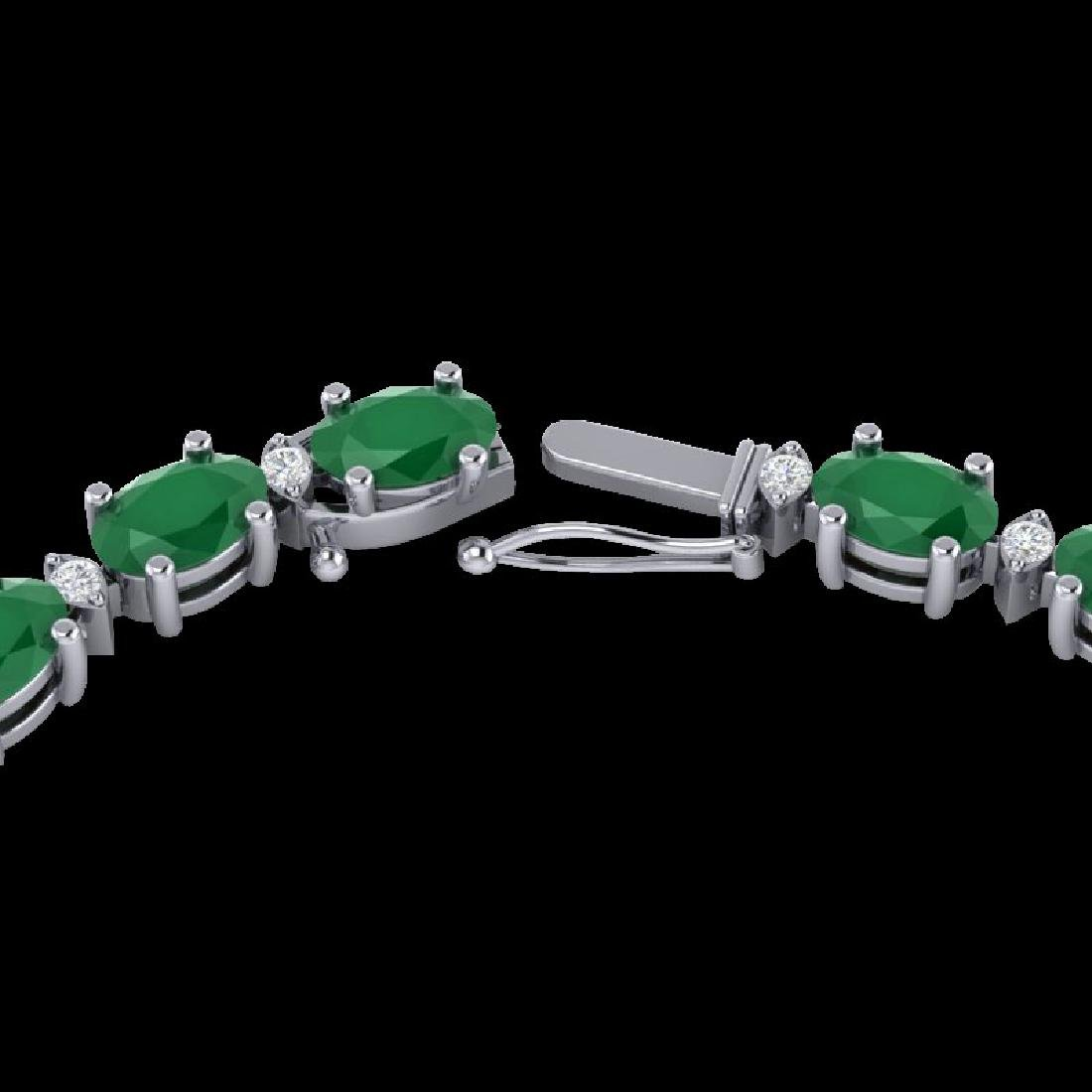 55.5 CTW Emerald & VS/SI Certified Diamond Eternity