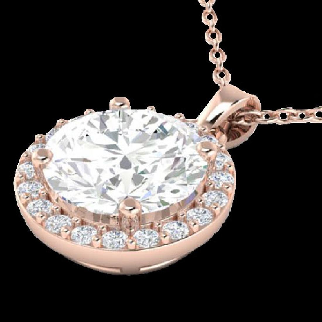 1.75 CTW Halo VS/SI Diamond Micro Pave Necklace 14K