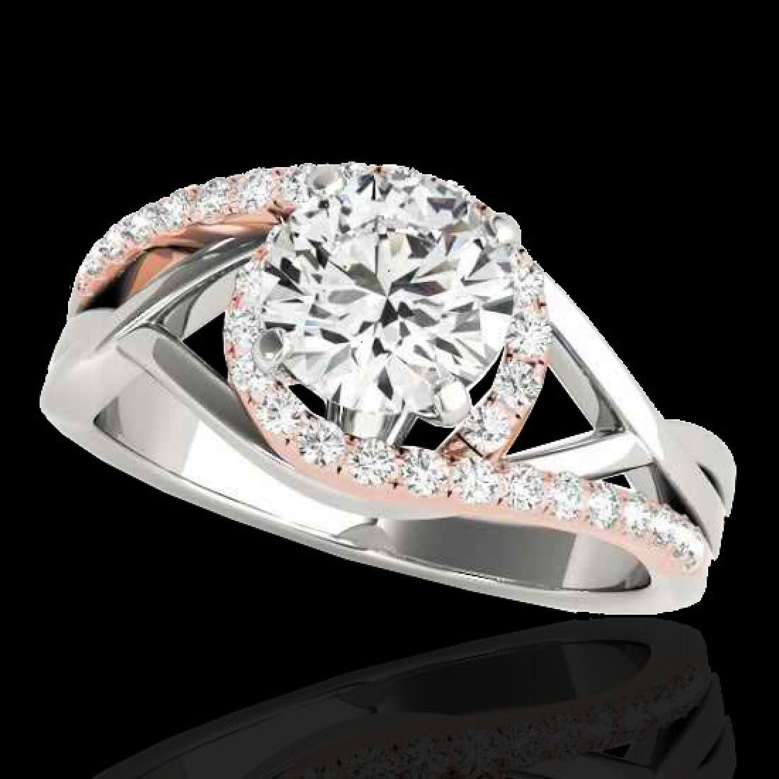 1.55 CTW H-SI/I Certified Diamond Bypass Solitaire Ring