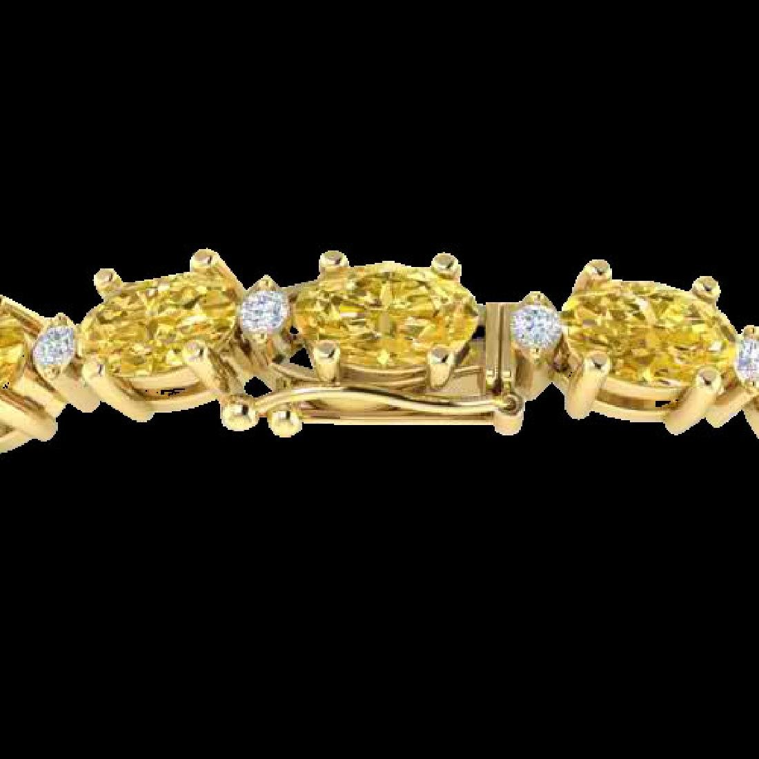 12 CTW Citrine & VS/SI Diamond Eternity Bracelet 10K