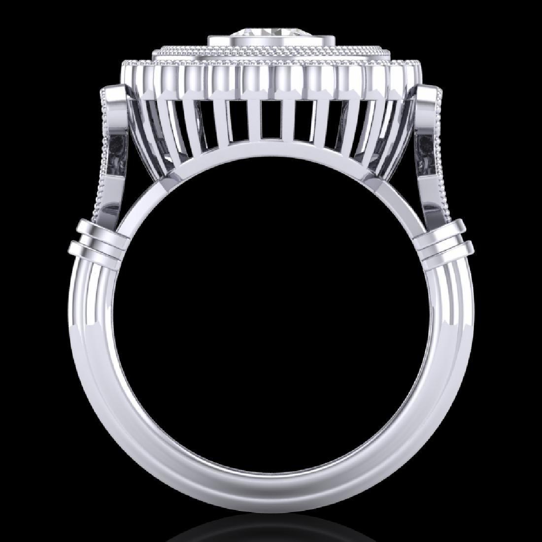 2.03 CTW VS/SI Diamond Solitaire Art Deco Ring 18K