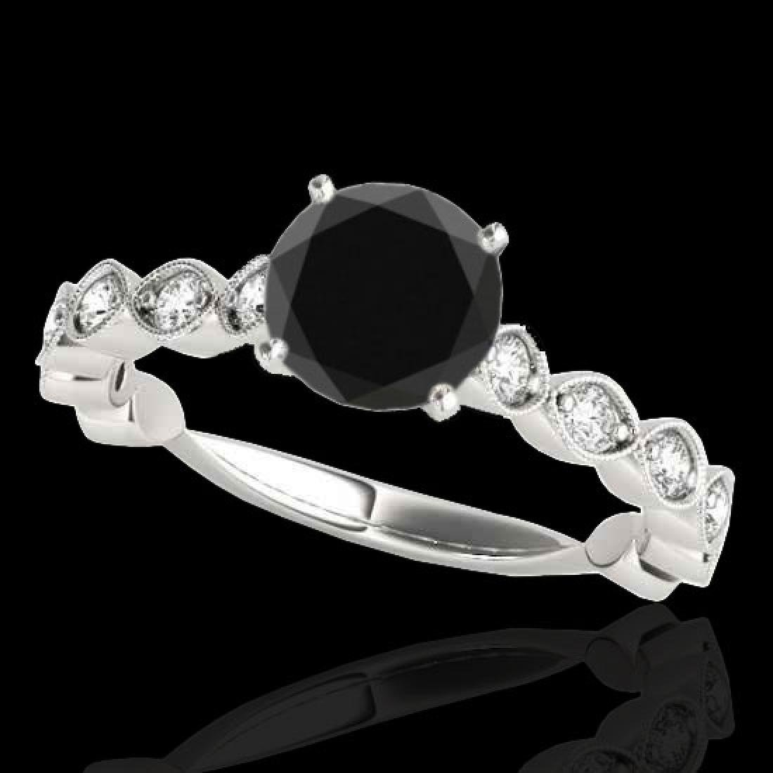 1.75 CTW Certified VS Black Diamond Solitaire Ring 10K