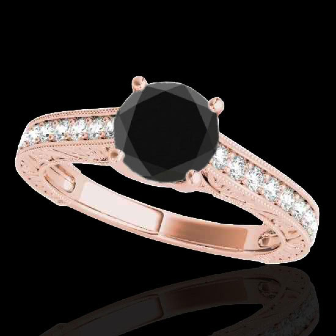1.82 CTW Certified VS Black Diamond Solitaire Ring 10K