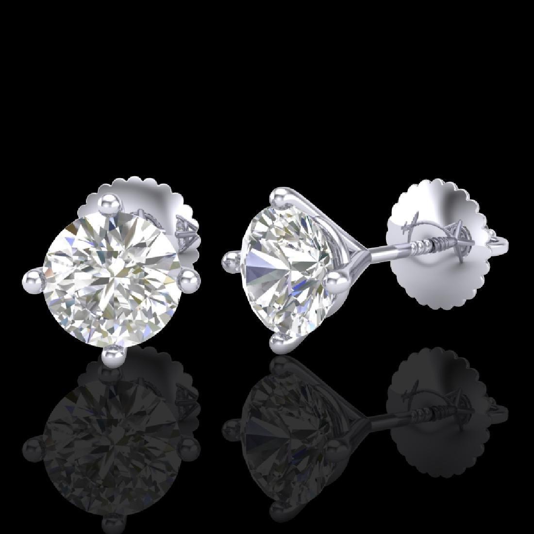 1.5 CTW VS/SI Diamond Solitaire Art Deco Stud Earrings