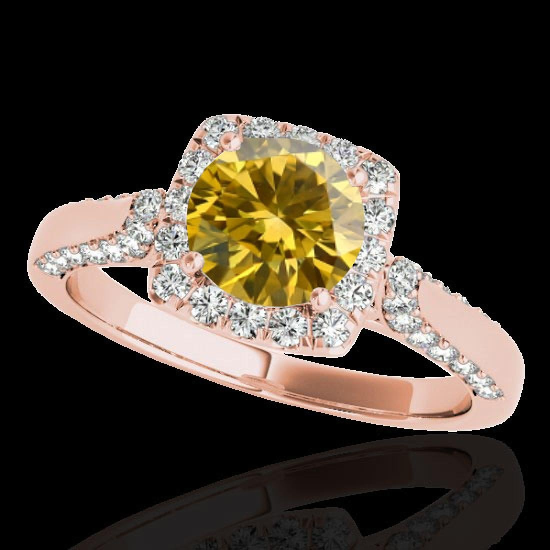 1.7 CTW Certified SI/I Fancy Intense Yellow Diamond
