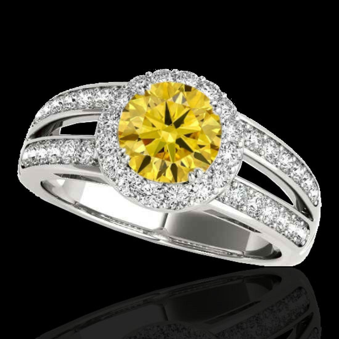 1.6 CTW Certified SI/I Fancy Intense Yellow Diamond