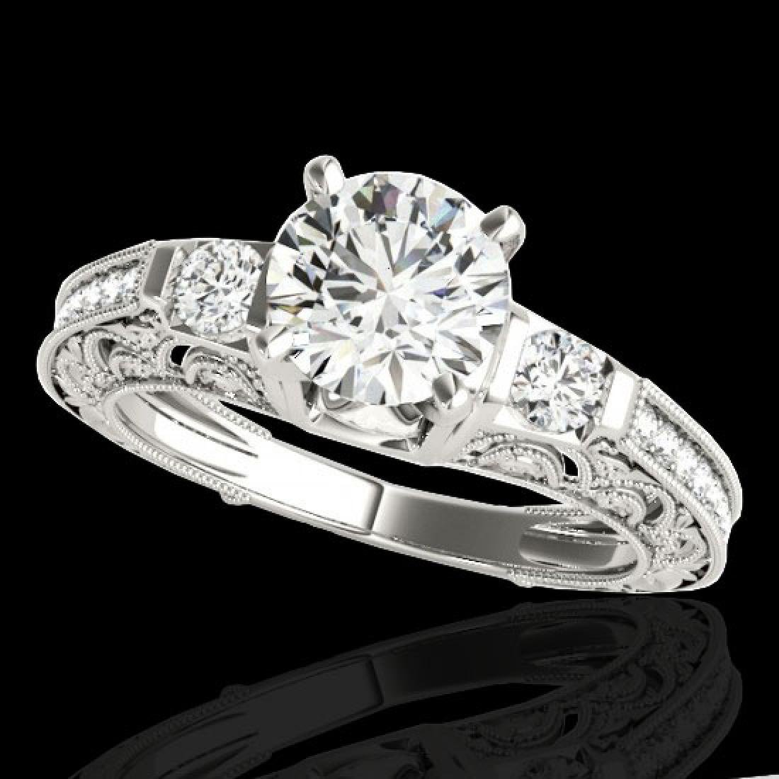 1.63 CTW H-SI/I Certified Diamond Solitaire Antique