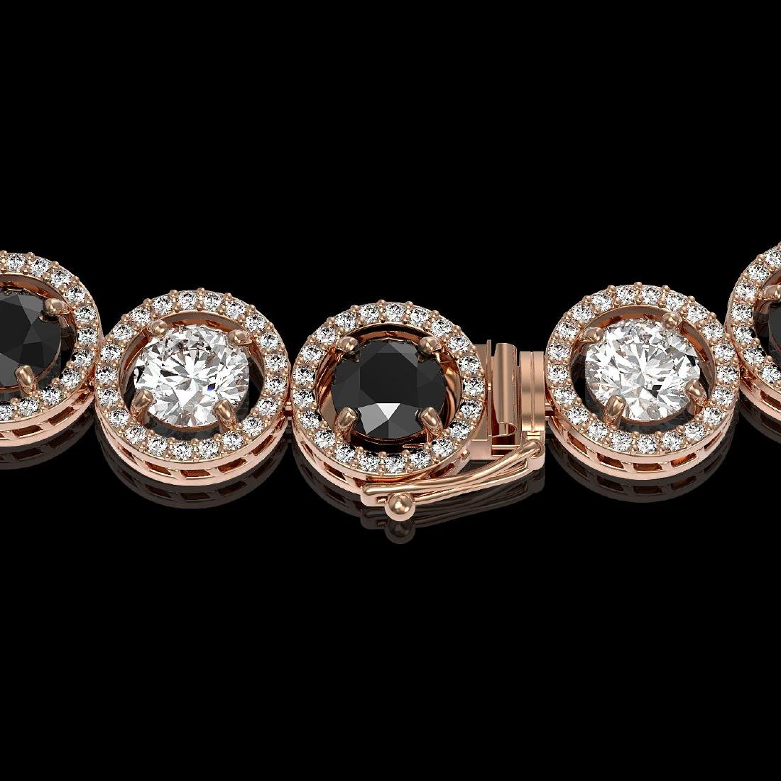 32.10 CTW Black & White Diamond Designer Necklace 18K - 3