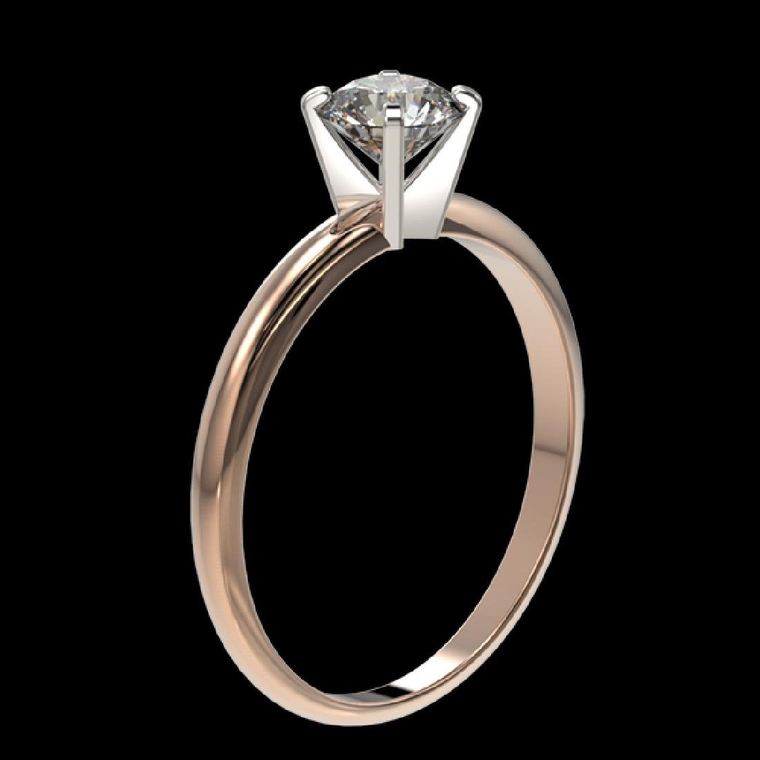 0.76 CTW Certified H-SI/I Quality Diamond Solitaire - 3
