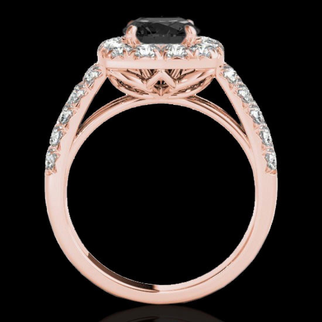 2.5 CTW Certified VS Black Diamond Solitaire Halo Ring - 2
