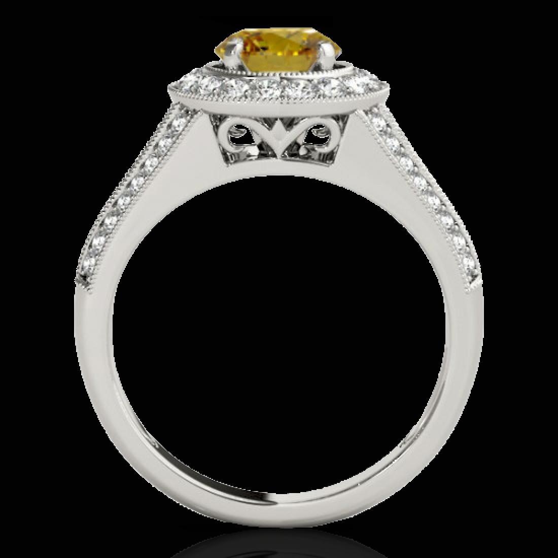 2.17 CTW Certified SI/I Fancy Intense Yellow Diamond - 2
