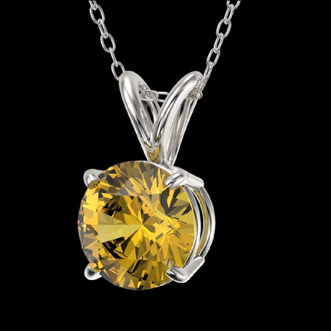 1.03 CTW Certified Intense Yellow SI Diamond Solitaire - 2
