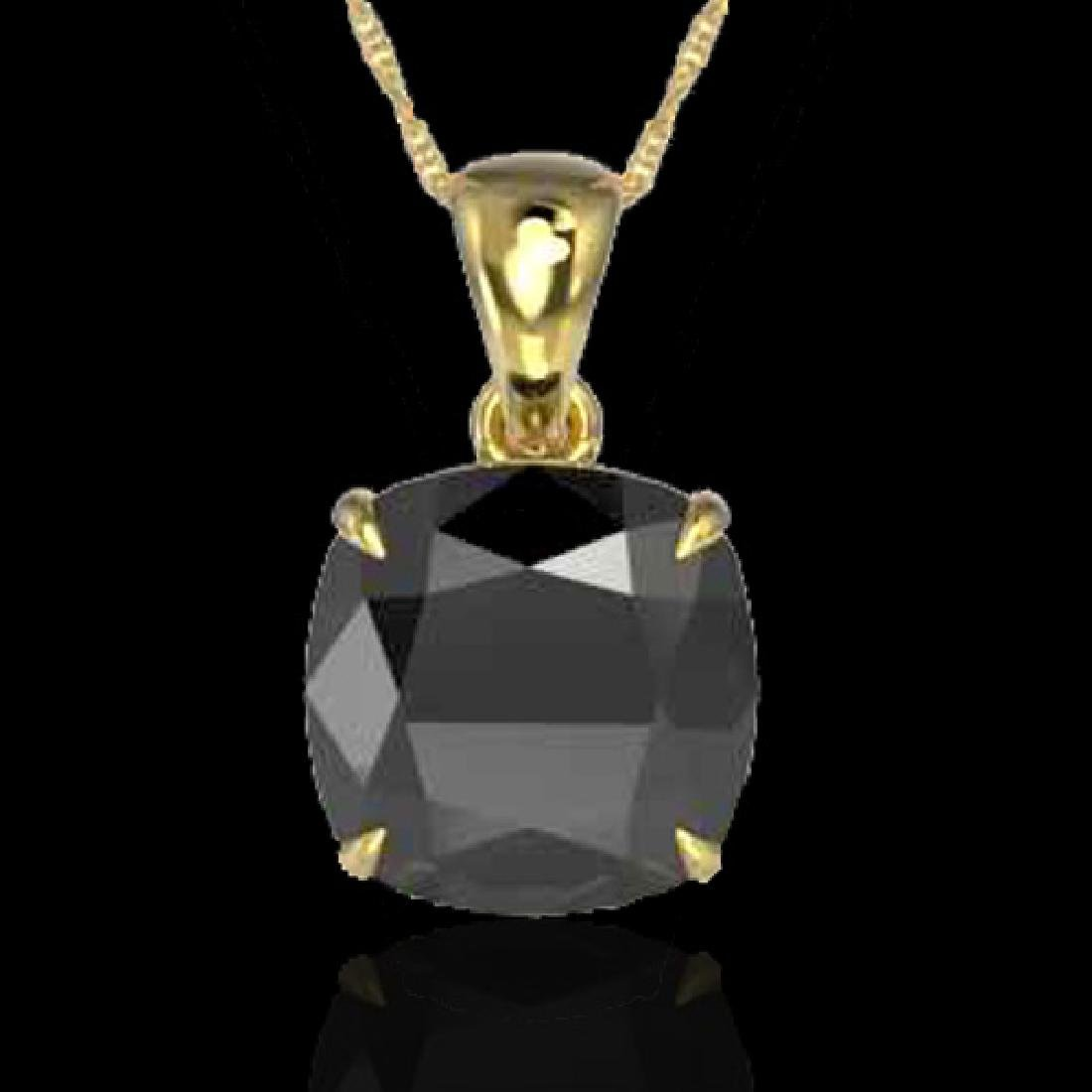 6 Cushion Cut Black VS/SI Diamond Designer Inspired - 2