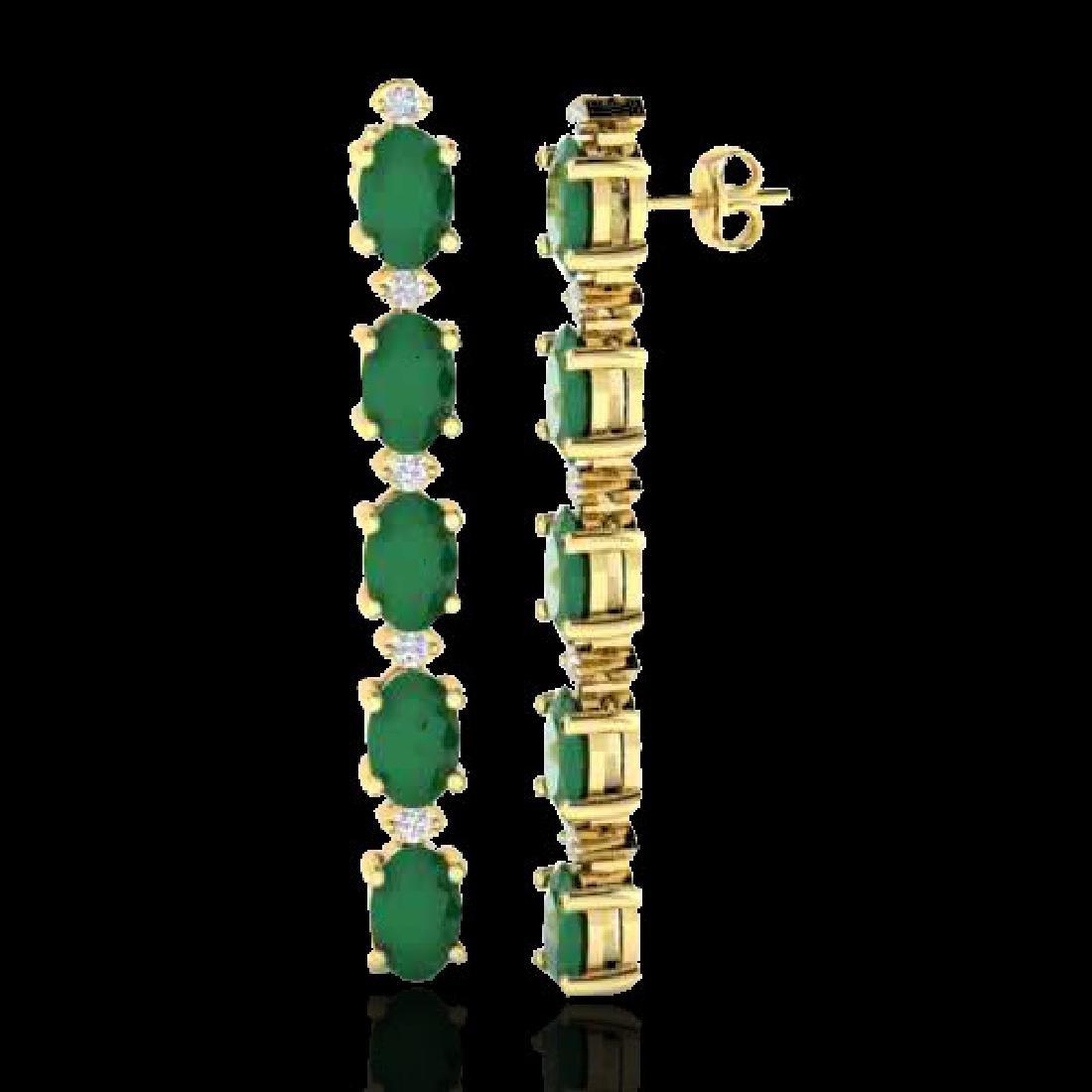 12.36 CTW Emerald & VS/SI Certified Diamond Tennis - 2