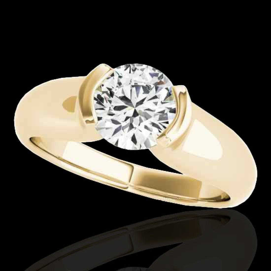 1 CTW H-SI/I Certified Diamond Solitaire Ring 10K