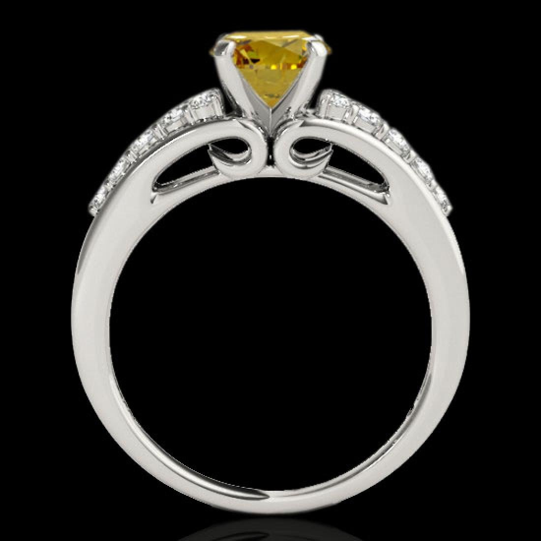 1.4 CTW Certified SI/I Fancy Intense Yellow Diamond - 2