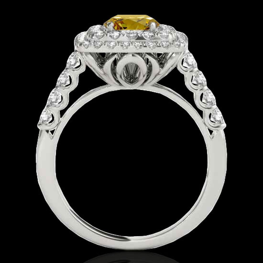 2.05 CTW Certified SI/I Fancy Intense Yellow Diamond - 2