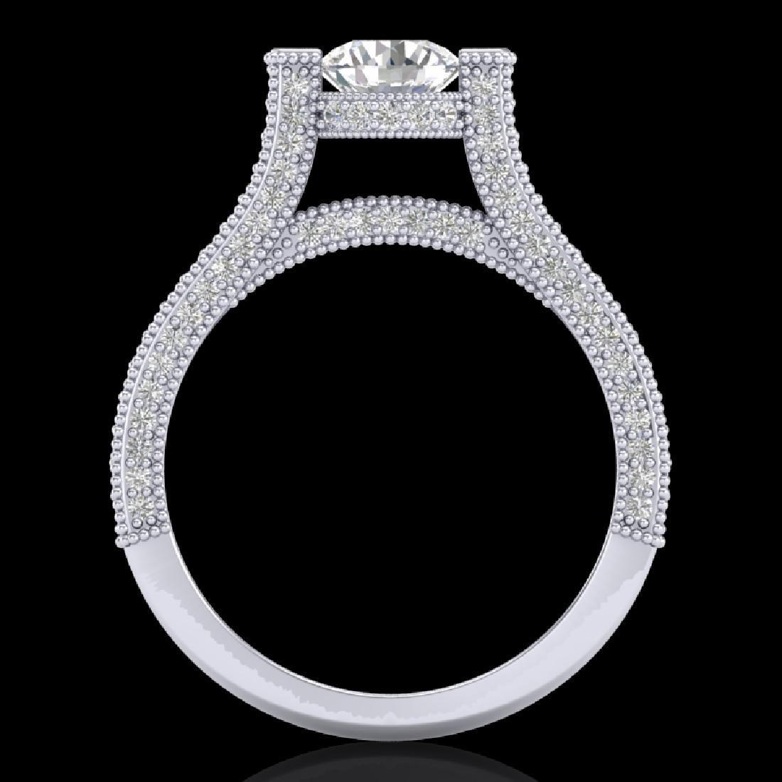 2 CTW VS/SI Diamond Micro Pave Ring 18K White Gold