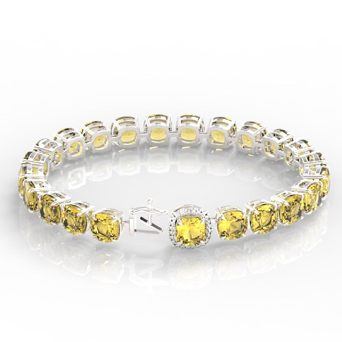 35 CTW Citrine & Micro VS/SI Diamond Halo Designer - 3