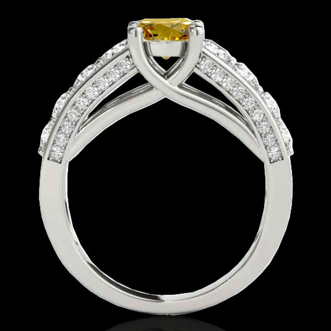 2.55 CTW Certified SI/I Fancy Intense Yellow Diamond - 2