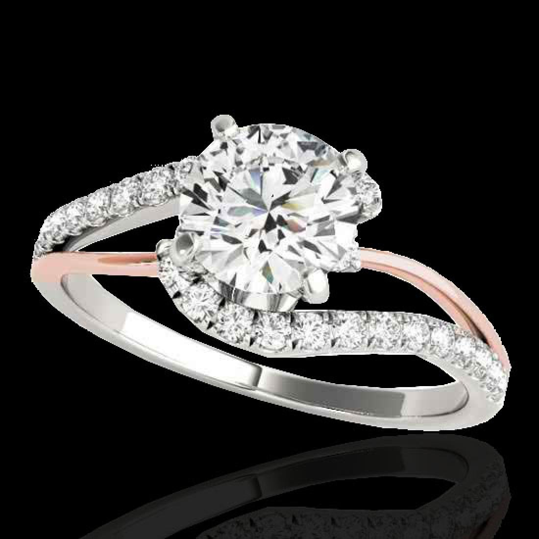 1.35 CTW H-SI/I Certified Diamond Bypass Solitaire Ring