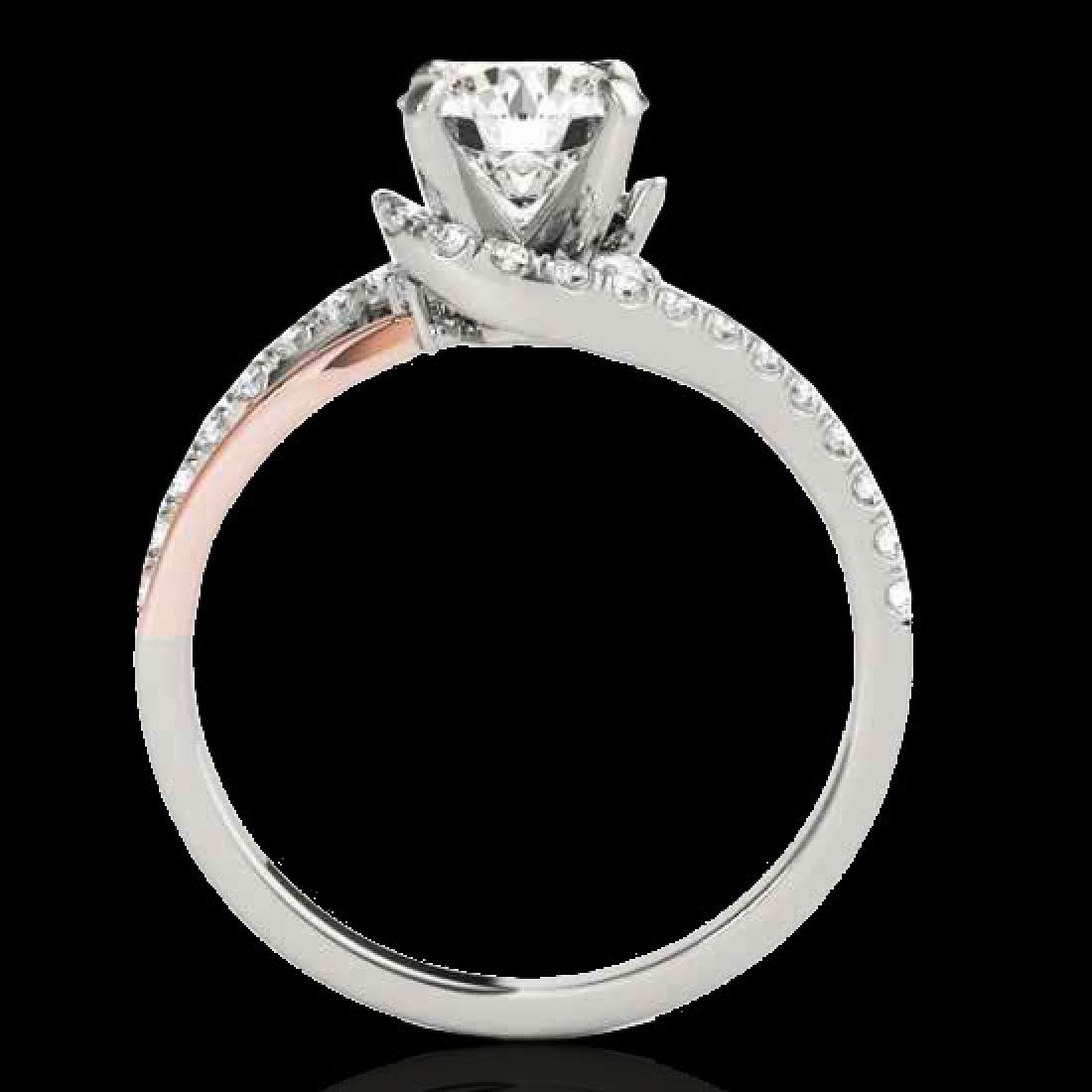 1.35 CTW H-SI/I Certified Diamond Bypass Solitaire Ring - 2