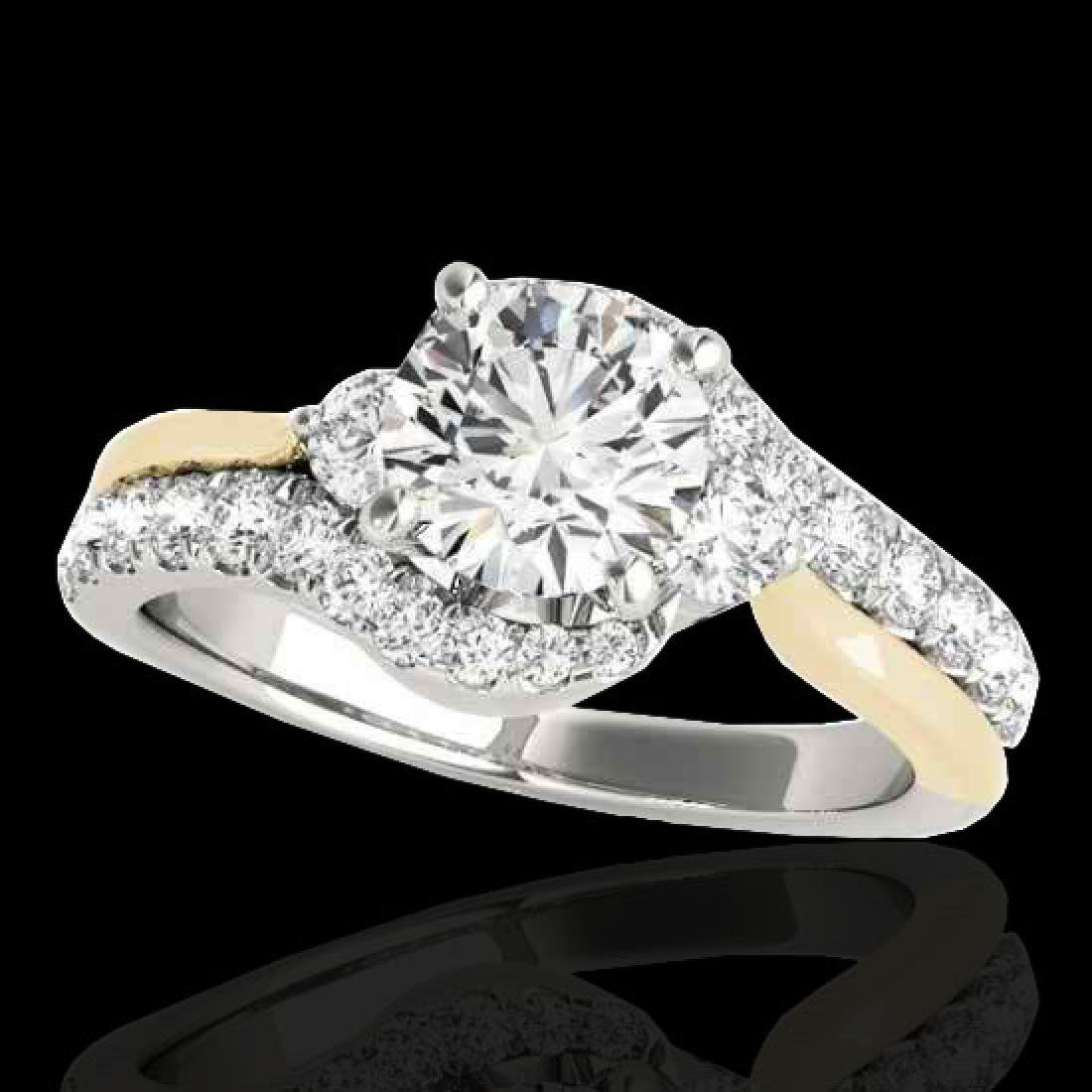 1.6 CTW H-SI/I Certified Diamond Bypass Solitaire Ring