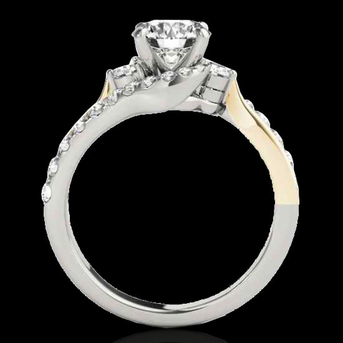 1.6 CTW H-SI/I Certified Diamond Bypass Solitaire Ring - 2