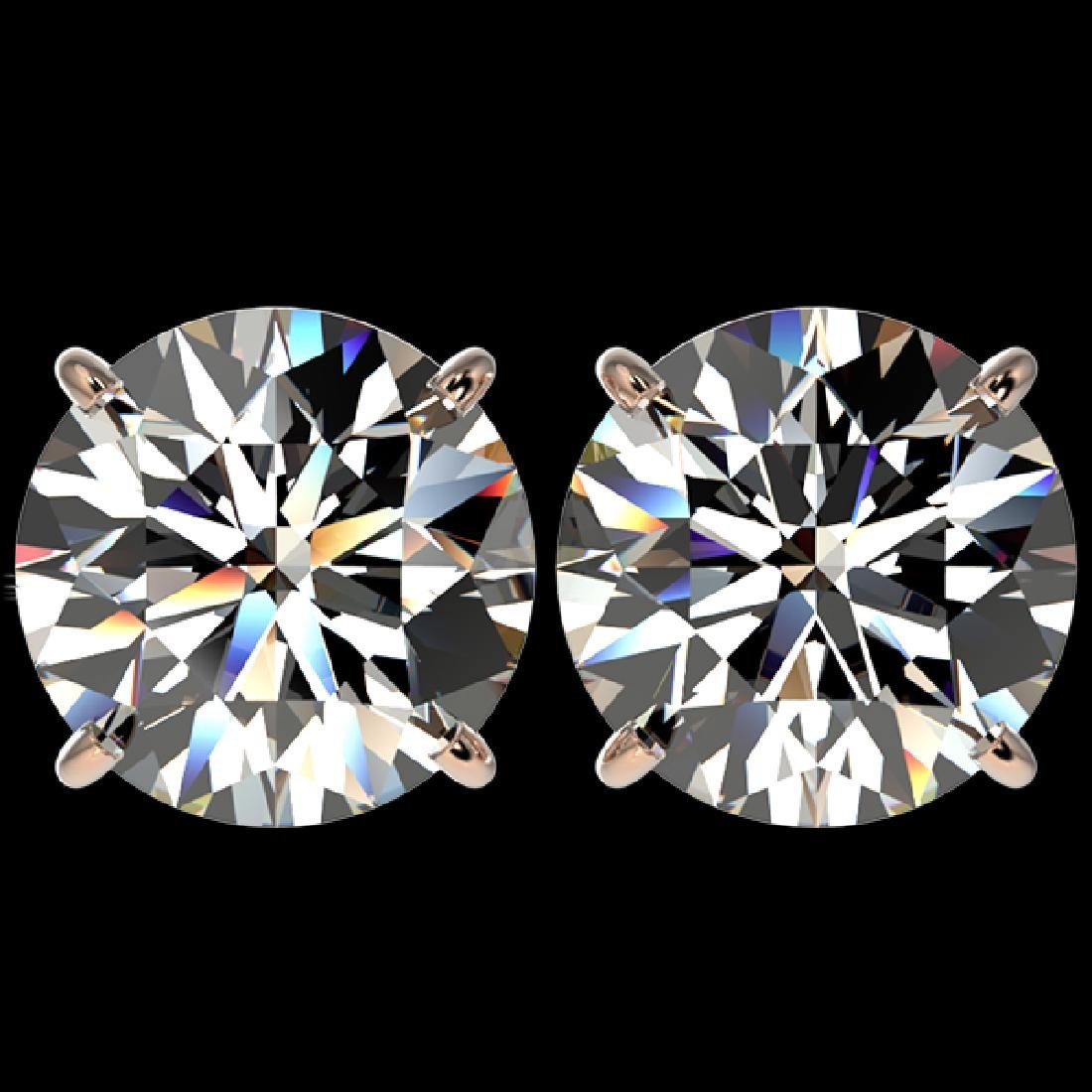 5 CTW Certified H-SI/I Quality Diamond Solitaire Stud
