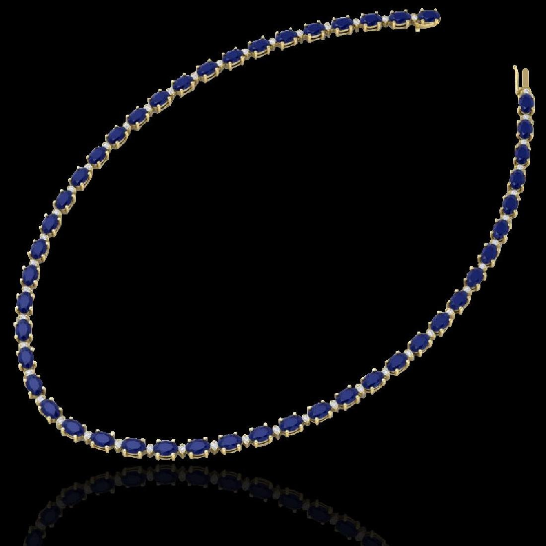 35 CTW Sapphire & VS/SI Diamond Eternity Tennis - 2