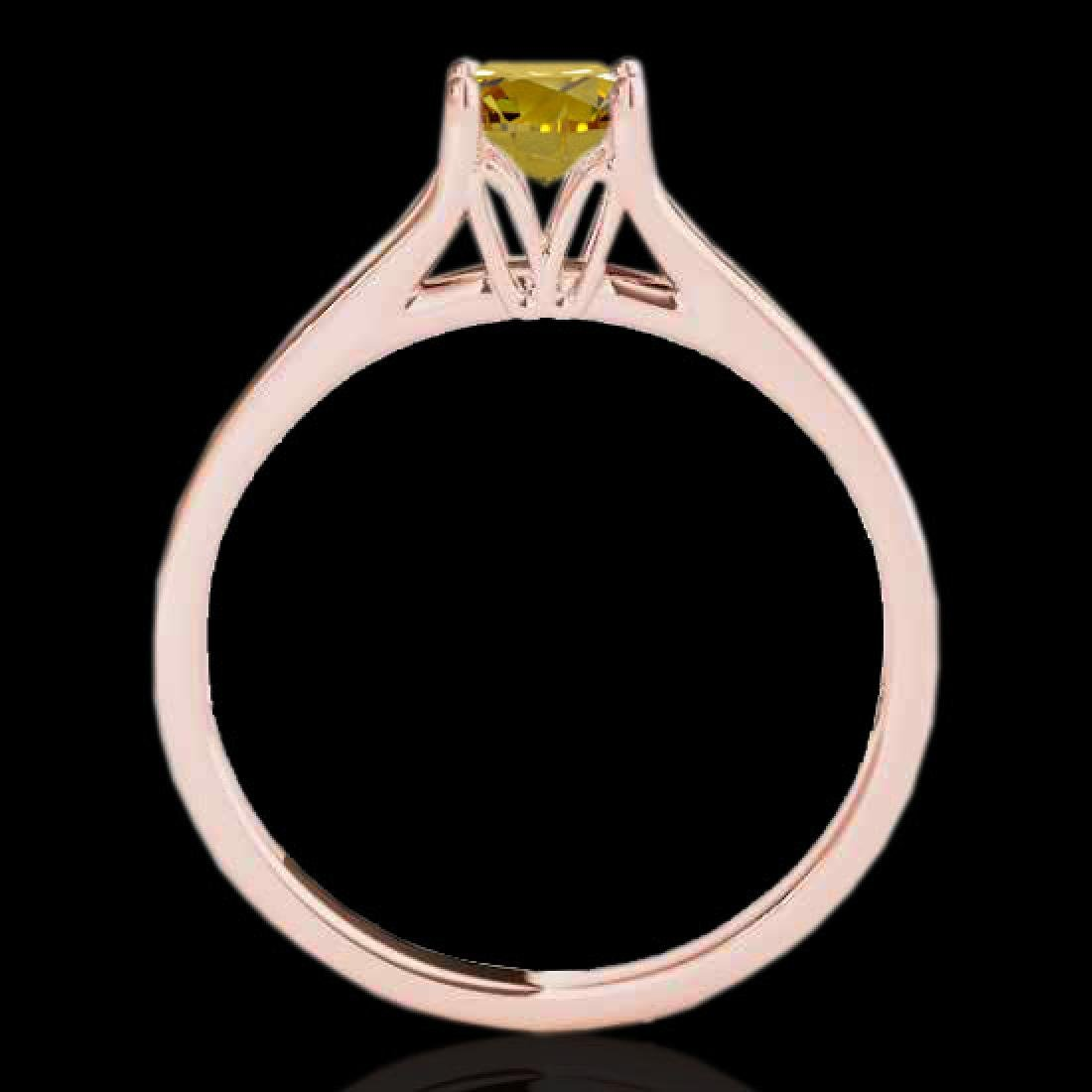 1 CTW Certified SI/I Fancy Intense Yellow Diamond - 2
