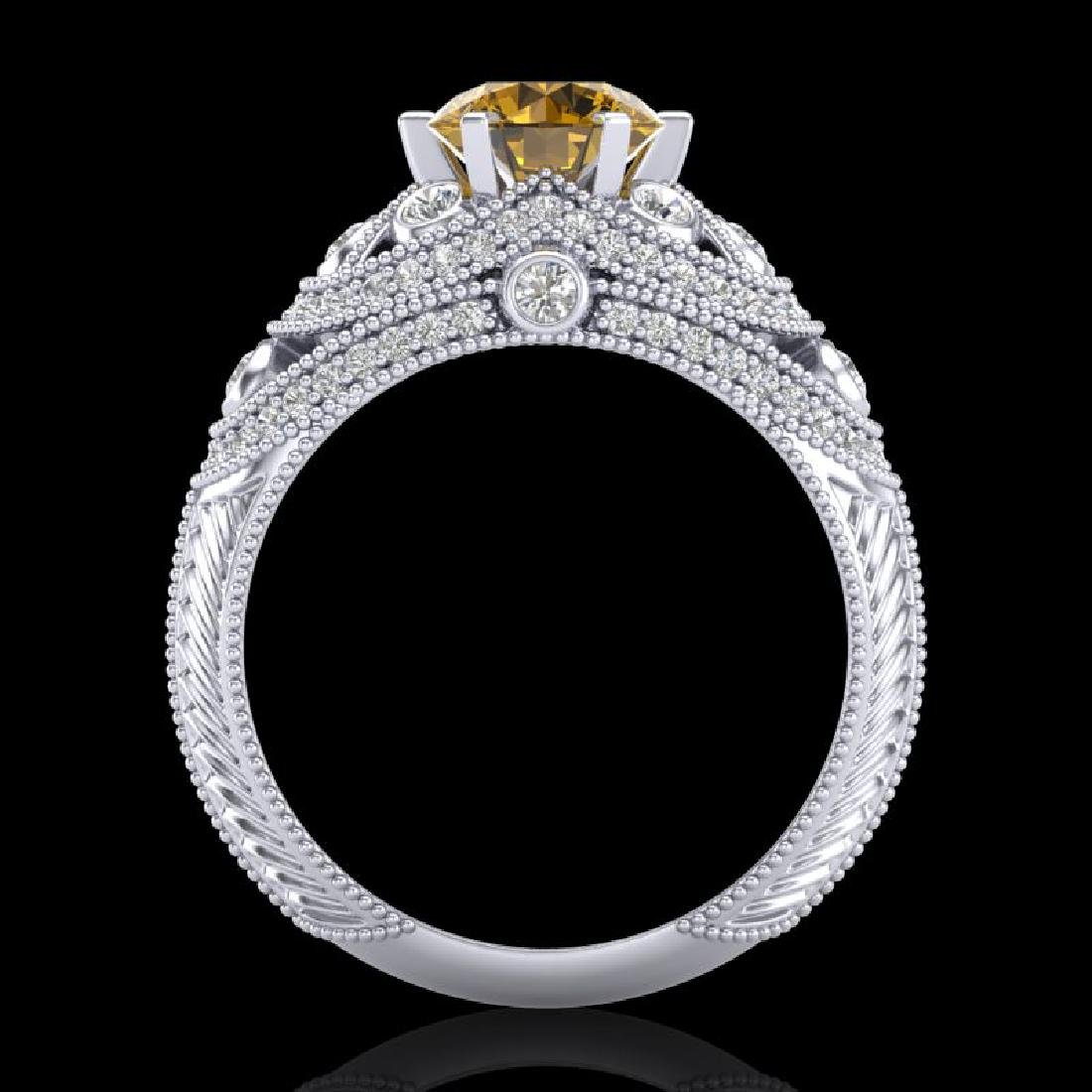 2 CTW Intense Yellow Diamond Solitaire Engagement Art - 3