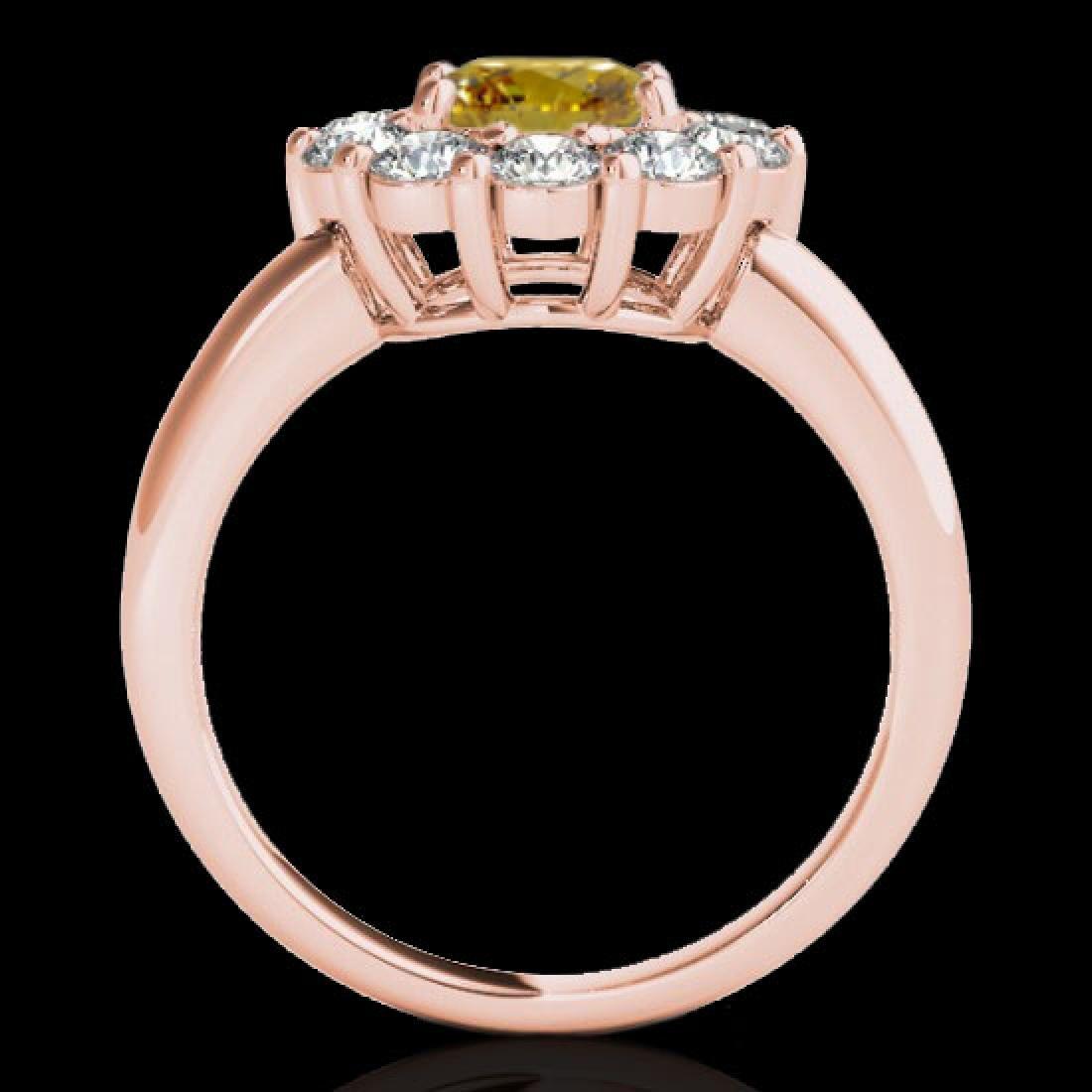 2.09 CTW Certified SI/I Fancy Intense Yellow Diamond - 2