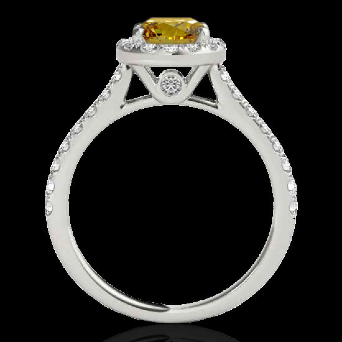 1.7 CTW Certified SI/I Fancy Intense Yellow Diamond - 2