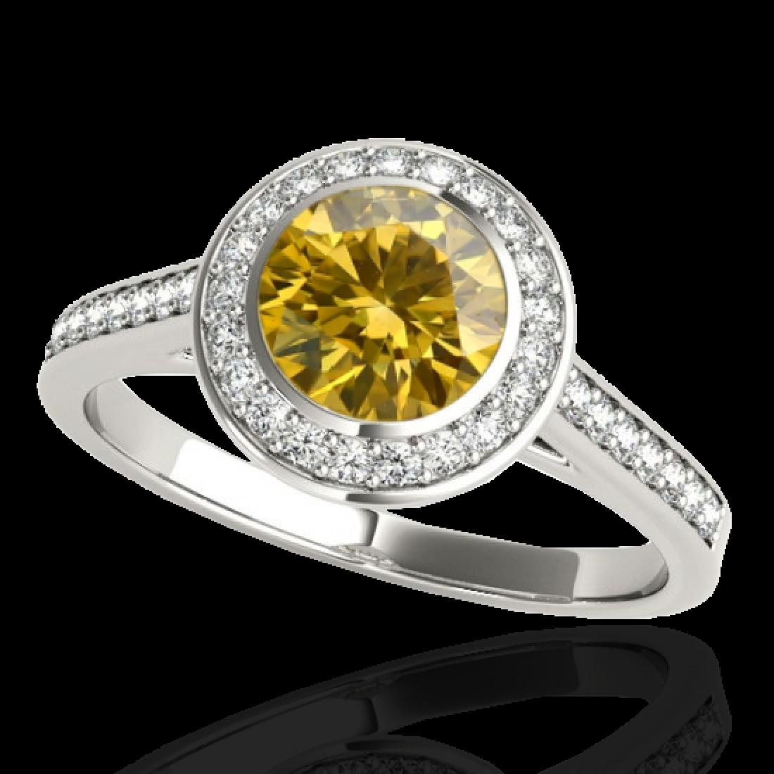 1.3 CTW Certified SI/I Fancy Intense Yellow Diamond - 2