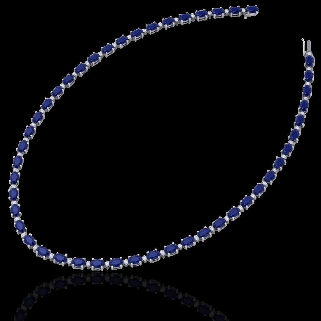 55.5.0 CTW Sapphire & VS/SI Certified Diamond Eternity - 2