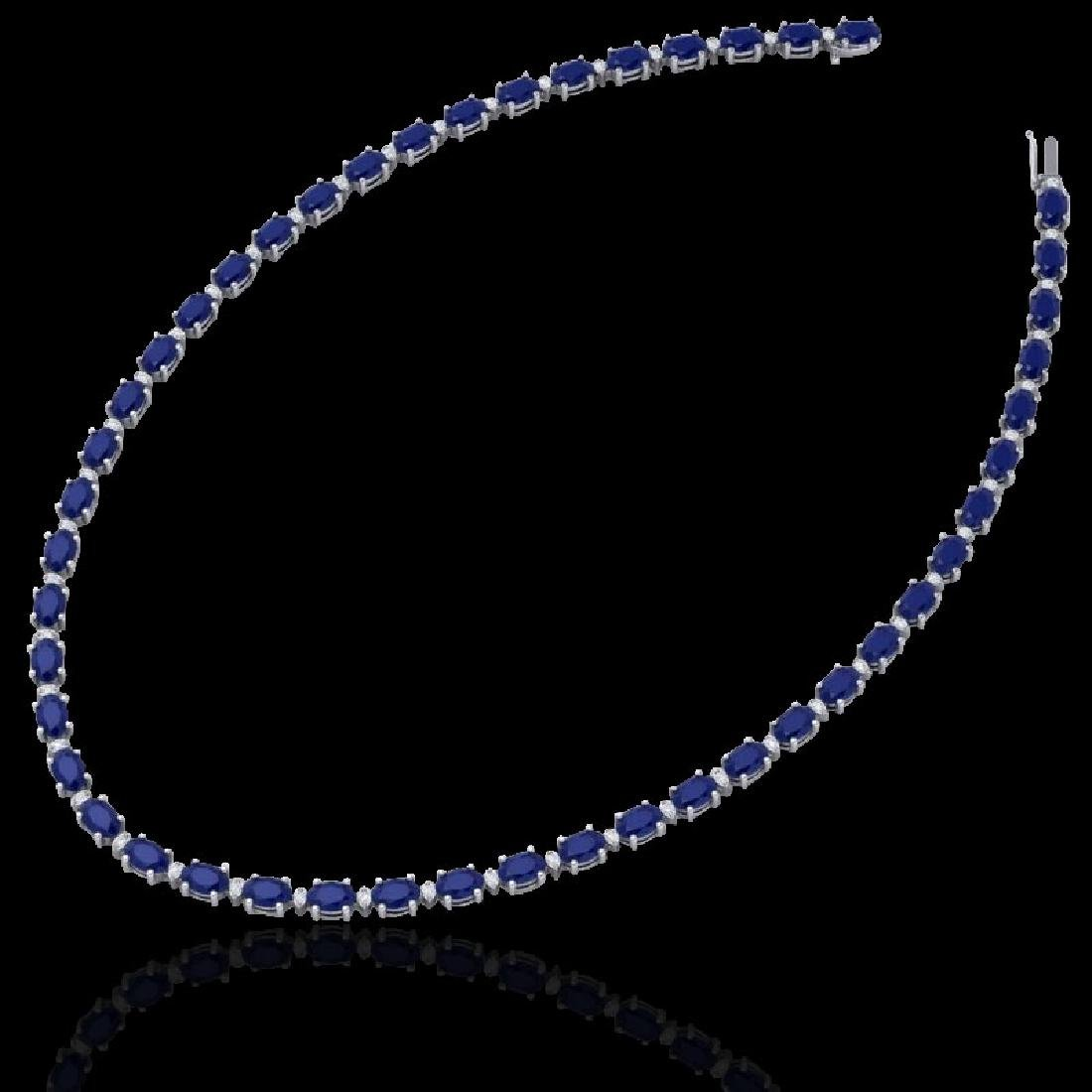 55.5.0 CTW Sapphire & VS/SI Certified Diamond Eternity - 2