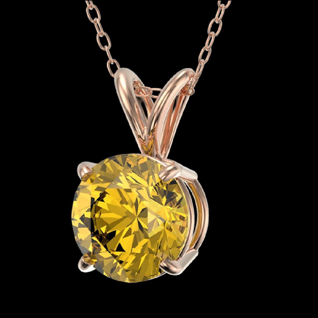 1.21 CTW Certified Intense Yellow SI Diamond Solitaire - 2