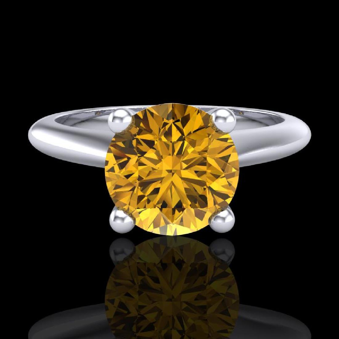 1.6 CTW Intense Fancy Yellow Diamond Engagement Art - 2