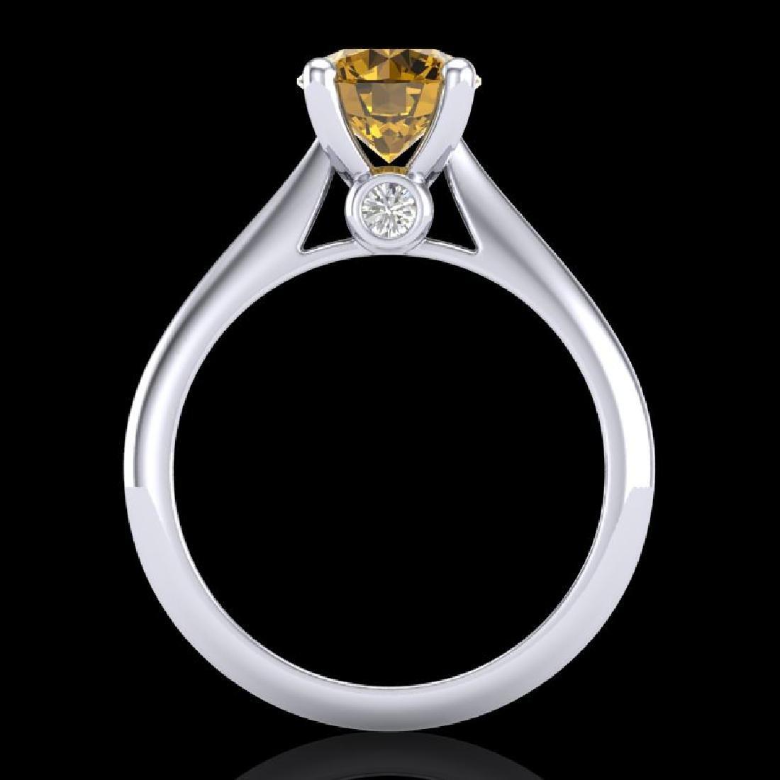 1.6 CTW Intense Fancy Yellow Diamond Engagement Art - 3