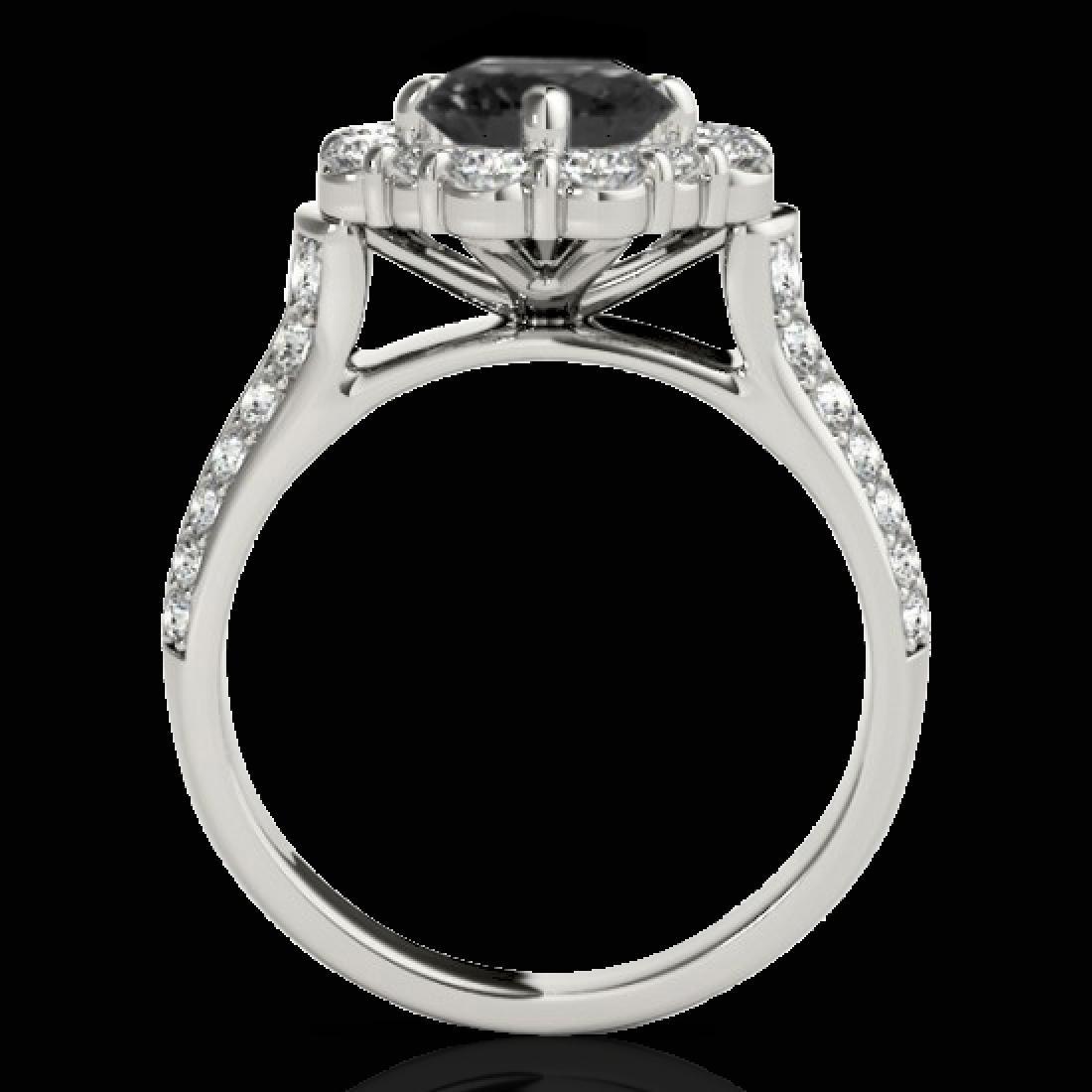 2.16 CTW Certified VS Black Diamond Solitaire Halo Ring - 2