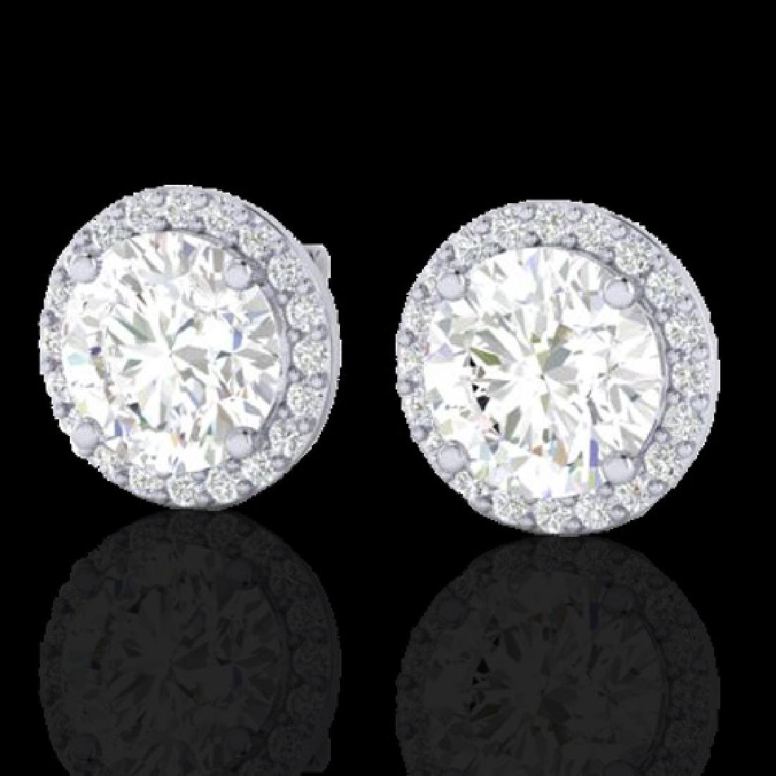 3.50 CTW Halo VS/SI Diamond Micro Pave Earrings