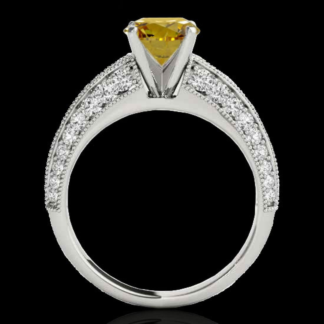 1.58 CTW Certified Si Intense Yellow Diamond Solitaire - 2